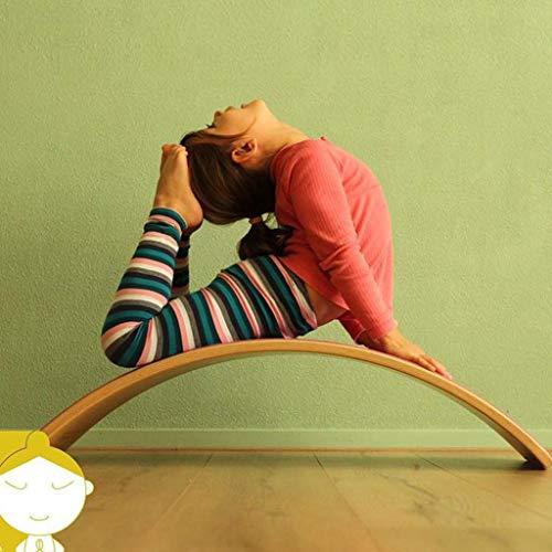 HQPCAHL Balance Board Holz Wobble Board 31 Zoll Big Size Kid Yoga Balance Board,Natural