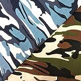 ZAIONE Stoff mit Camouflage-Druck, 100 % Baumwolle, je 90