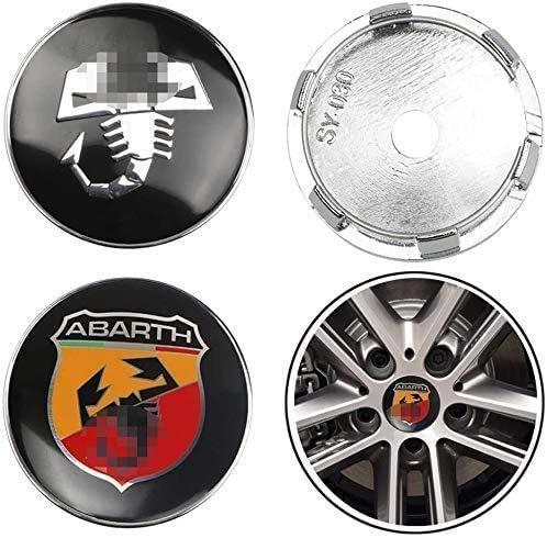 4 PCS Auto Center Hub Caps para Fiat Viaggio Punto 124125500, 60mm Wheel Center Logo Badge Stickers Accesorios de decoración de modelado de neumáticos