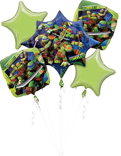 amscan 3272101 Folienballon Set Teenage Mutant Ninja Turtles