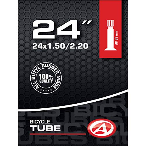 Author fiets binnenband 24 inch AV autoventiel 32 mm 32-57 507 ATB MTB kinderfiets