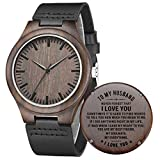Wooden Watches Mens Engraved - Husband Birthday Gifts, Anniversary for...