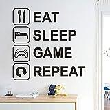 mlpnko 2020 Wallpapers Essen Schlaf Gaming Gamer WandtattooAlien Joystick Videospiel Wandtattoo...