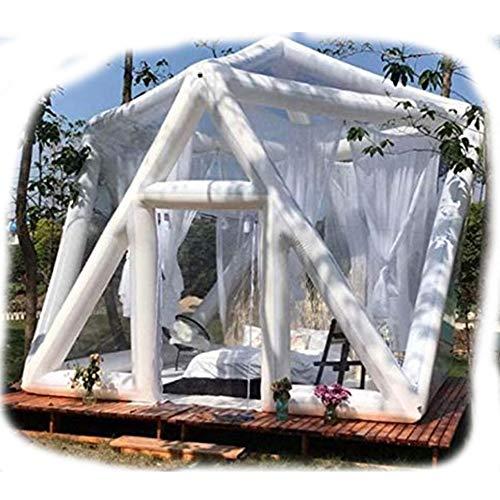 JASSXIN Gestalten Sie Transparent Camping-Zelt Air Hotel Zelt Aufblasbare Blase Fussball Kuppelzelt Panorama Lounge-Zelt Im Freienzelt-Reisen Homestay,13 Ft