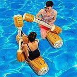 Sallypan 4 unids/Set justar Piscina Flotador Juego Inflable Piscina Juguetes Nadando Parachoque Juguete por Adulto Niños Partido Gladiador Balsa Anillo de natación
