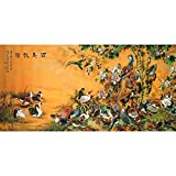 Meishe Art Poster Print Traditional Chinese Birds Phoenix Painting Vintage Colorful Oriental Ancient Asian Watercolor Drawing Home Wall Decor