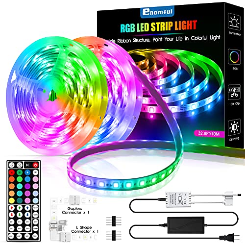 of led devices leading brands only Ehomful 32.8 Ft Led Strip Lights,5050 Type Color Changing 44 Keys Remote Control Led Lights for Bedroom,Room,Kitchen and Party Decorations