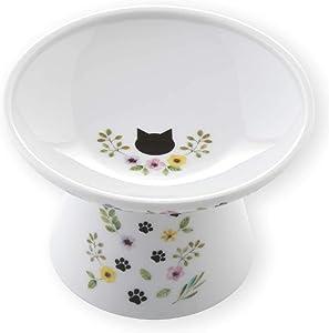 Necoichi Extra Wide Raised Cat Food Bowl (Botanical Garden Limited Edition)