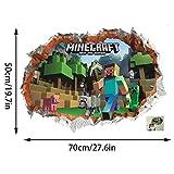 GTRB Wandsticker Minecraft Cartoon Game 3D Wandaufkleber