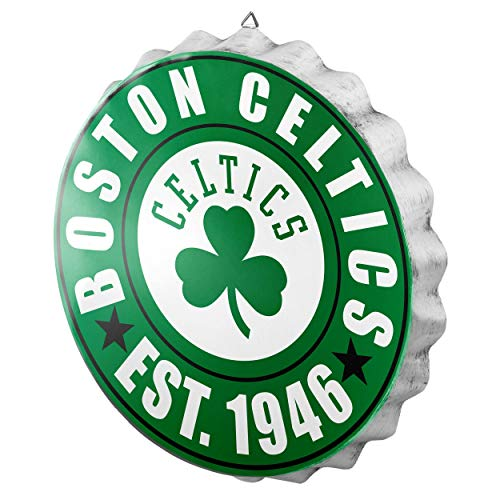 FOCO Boston Celtics NBA Bottle Cap Wall Sign