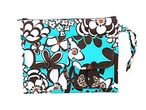 Blue Floral Wristlet, Wallet Wristlet, Fabric Wallet, Wristlet Purse, Cellphone Wristlet, Women's Wallet