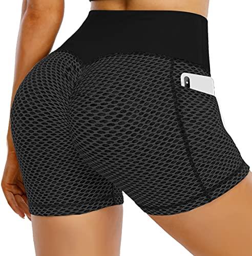 Tiktok Butt Lift Gym Shorts for Women High Waist Booty Yoga Short Butt...