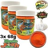 Uncle Josh USA Trout Bait 3er Pack - 3X 68g - Forellenteig/Schwimmteig - Knoblauch/Garlic Flavour...