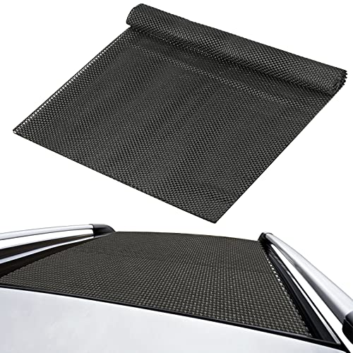 Alfombrilla Protectora para Techo de Coche Estera del Techo del Coche Negro 90x120cm Plástico PVC para el Techo,la cajuela de los automóviles para Alfombra sofá, colchón