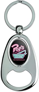 Graphics and More Riverdale Pops Chock'lit Shoppe Chrome Plated Metal Spinning Oval Design Bottle Opener Keychain