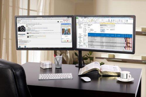 Lavolta – Monitorhalter für 2 Monitore (360 Grad Drehung und Schwenkung) (13″ bis 27″) - 2