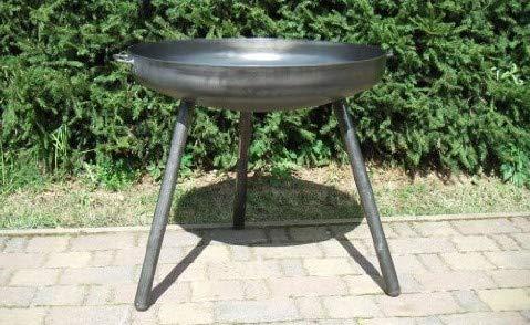 Braciere in ferro con gambe alte, diametro: 80 cm
