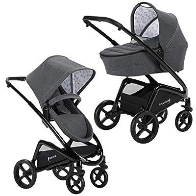 Knorr-Baby Dune - Cochecito de bebé con ruedas giratorias, color gris