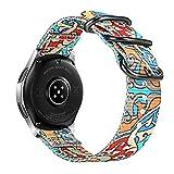 FINTIE Cinturino Compatibile con Galaxy Watch 46mm/Gear S3 Classic/Frontier/Huawei Watch GT Sport, 22 mm Morbido Tessuto di Nylon Sports Watch Band Regolabile con Fibbia Acciaio Inox, Colour A