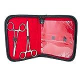 BodyJewelryOnline Adulto Dermal Piercing Tool Kit - 2 FORCIPI cutanei con Una Custodia di Alta qualità Incluso