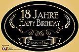 """""""18 Jahre - Happy Birthday"""" Aufkleber Flaschenetikett Etikett 18 Geburtstag"""