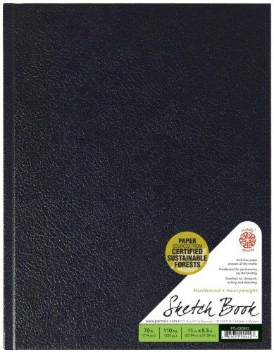 Pentalic sketch book, hardbound, 8-1/2-inch by 11-inch