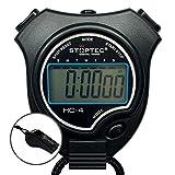 Schütt Stoptec HC-4 - Cronómetro digital con silbato (gran pantalla, para aficiones, deportes, tiempo libre, resistente a salpicaduras)