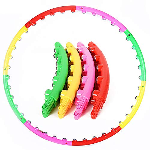Find Discount Hula Hoop Plastic Massage Hula Hoop 8 Section Removable Fitness Hula Hoop Outdoor Spor...