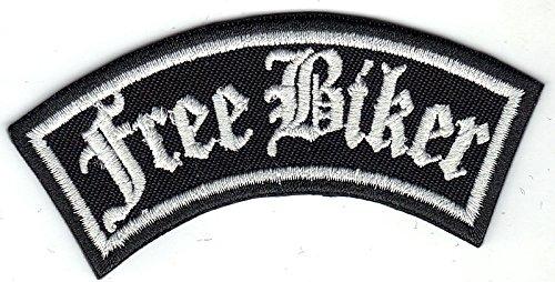 FREE BIKER Rider Rankpatch Rocker Motorcycle Motorrad Aufnäher Patch Abzeichen