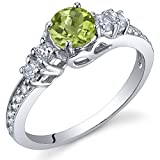 Peridot Solstice Ring Sterling Silver Size 8