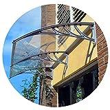 Tenda per Tettoia Protegge da Sole, Pioggia, Nevischio O Tenda da Neve Tettoia da Giardino per Porte E Finestre per Esterni (Color : Clear-D, Size : 80cmx100cm)