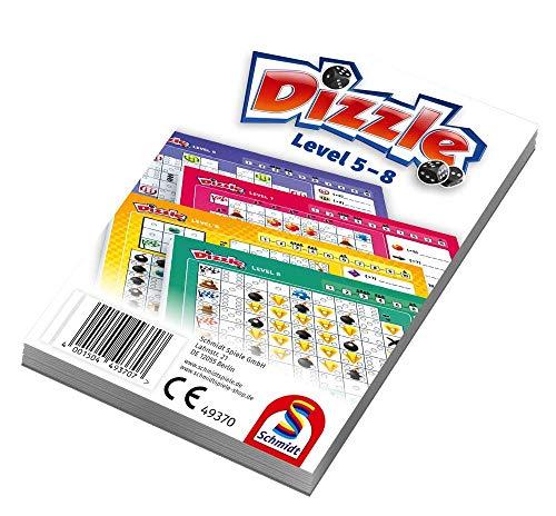 Schmidt Spiele Dizzle Zusatzblock mit Level 5-8 Würfelspiel