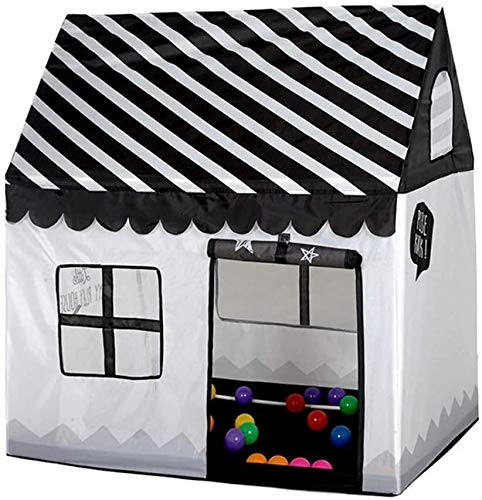 ZZXXB Benebomo Girls Indoor Outdoor Play Tents Kids Playhouse Palace Tents(Black/white) Judith