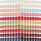 960 Pezzi 40 Set Punte di Unghie Finte Corte Quadrate Unghie da Premere Lucida Punte di Unghie Colorate Quadrate Unghie Artificiali a Copertura Totale per Donne Unghie DIY, Colori Assortiti