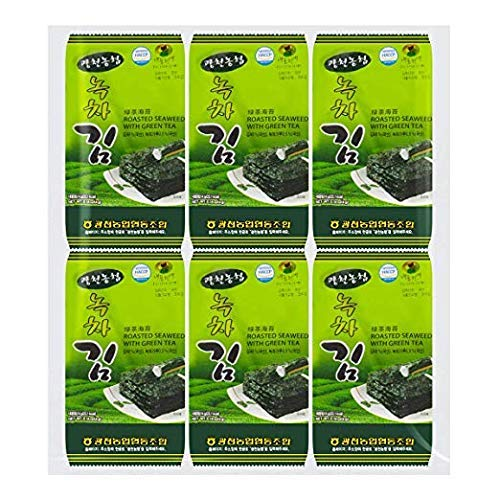 Nonghyup Roasted Seaweed with Green Tea, 24 Count