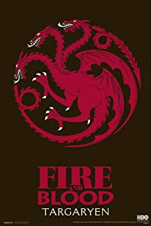 Pyramid America Game of Thrones Fire and Blood Targaryen Cool Wall Decor Art Print Poster 12x18