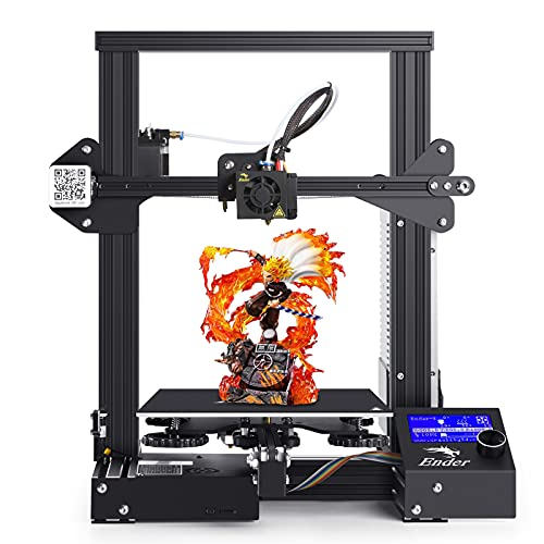 Creality Ender 3 3D Printer FDM DIY Kit with Resume Power Failure Printer for Beginners and Kids, 220x220x250mm, Pimiho 2020 Ender-3 Series
