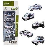 Ocamo NeujahrGeschenk,Spielzeug Autos für Kleinkinder,Auto Spielzeug ab 1 2 Jahr,Kinder Legierung Auto Simulation polizeiauto Spielzeug Set Baby Hand halten Fahrzeug Geschenk Spielzeug -