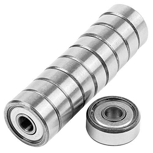 TTBD 10 StüCke Miniatur Versiegelt Metall Geschirmt Metrische Radial Kugel Lager Modell: 604 ZZ 4x12x4mm