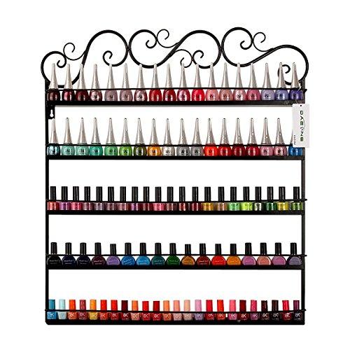 Dazone® 5-tier Metall Herz Nagellack Organizer Aromatherapie und ätherischen Ölen Regal Lippenstiftständer Aufbewahrung (Schwarz)