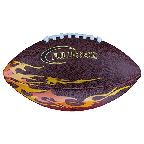 Full Force American Football Junior Freizeit- und Trainingsball Flamme, Gr. 7