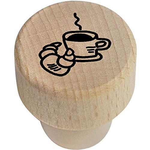 Azeeda 19mm 'Kaffee und Croissant' Flaschenverschluss (BS00012676)
