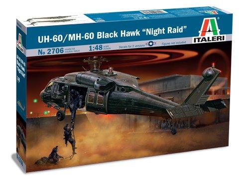 Italeri I2706 510002706 - 0.075 UH-60A schwarze Hawk Night Raid