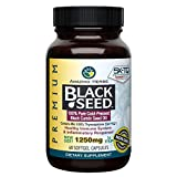 Amazing Herbs Premium Black Seed Oil Capsules - High Potency, Cold Pressed Nigella Sativa Aids in Digestive Health, Immune Support & Brain Function - 60 Count, 1250mg
