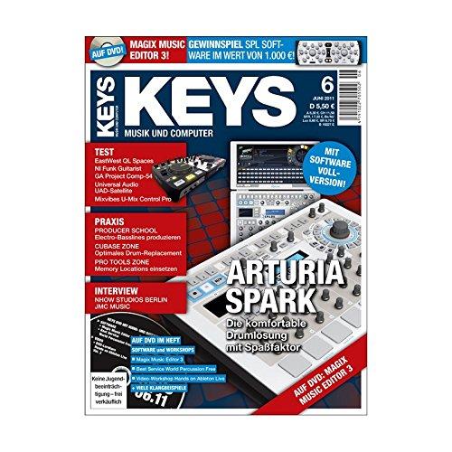 Keys 6 2011 mit DVD - ARTURIA SPARK - Magix Music Editor 3 Software auf DVD - Personal Samples - Free Loops - Audiobeispiele