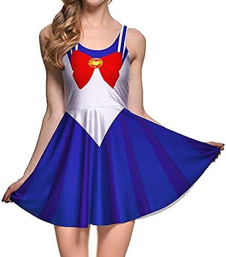 Sailor Moon Usagi Tsukino Lilac Dreamy Skater Dress