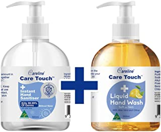 Care Touch Value Pack 1 x 500ml Hand Sanitiser, 1 x 500ml Hand Wash