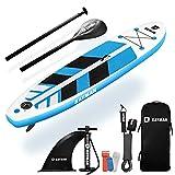 KAYMAN SUP - Tabla de remo inflable con bomba, bolsa de transporte, aleta, correas de sujeción, kit de reparación - duradero y grueso, ideal para todo tipo de surf, mar y agua de río (3mx76cmx15cm)