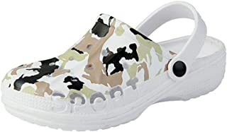 Hopscotch Boys and Girls EVA Camouflage Printed Clogs in White Color