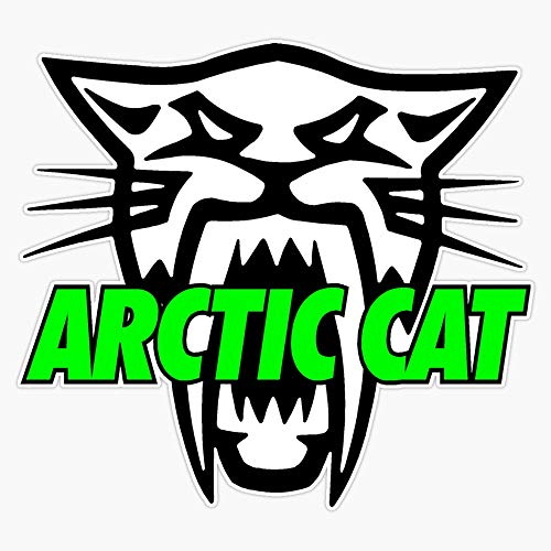 Leyland Designs Arctic Cat Logo Sticker Outdoor Rated Vinyl Sticker Decal for Windows, Bumpers, Laptops or Crafts 5'